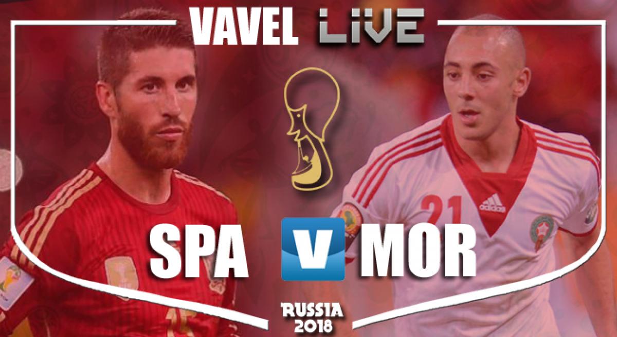 Resultado Espanha x Marrocos na Copa do Mundo 2018 (2-2)