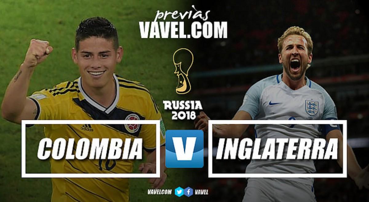 Em grande duelo, Colômbia e Inglaterra se enfrentam buscando vaga nas quartas de final