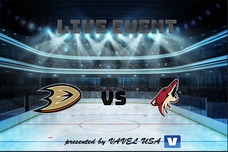 Arizona Coyotes vs Anaheim Ducks: Live Stream, Updates and Commentary of NHL 2018/19