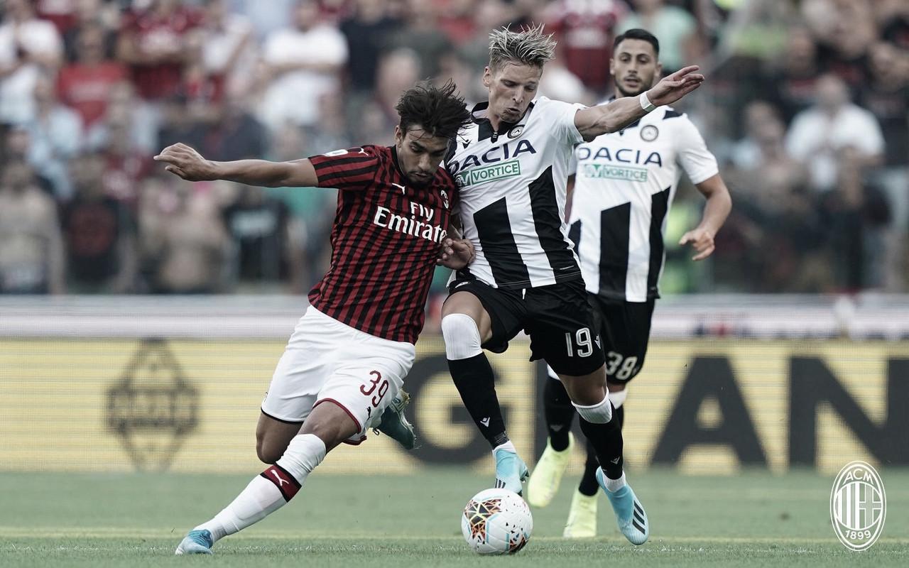 Com gol brasileiro, Udinese derrota Milan em estreia na Serie A