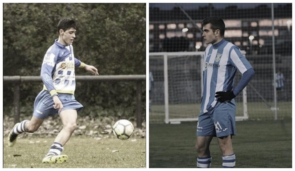 Lucas Nebreda (izquierda) y Diego Pérez (derecha) durante en su etapa en las categorías inferiores de la Arandina. Fotomontaje: Vavel