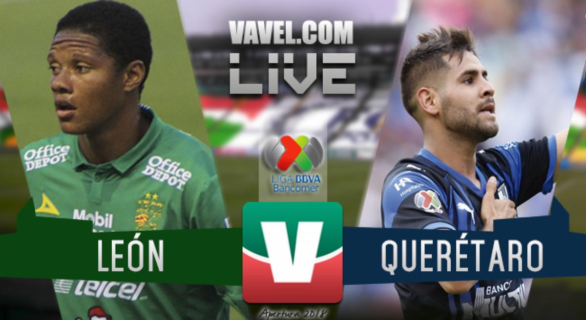 Resultado del León 3-0 Querétaro de la Liga MX 2018