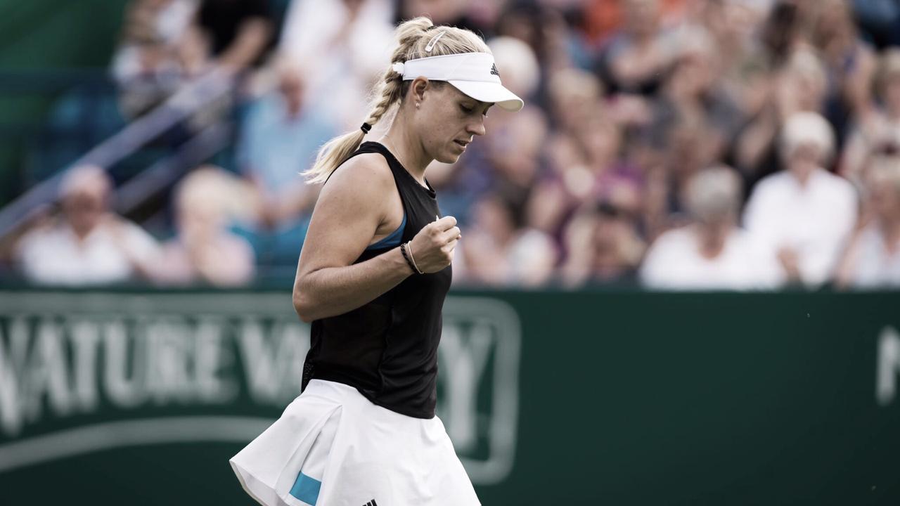 Sólida, Kerber bate Peterson com direito a 'pneu' e está nas quartas do WTA Premier de Eastbourne