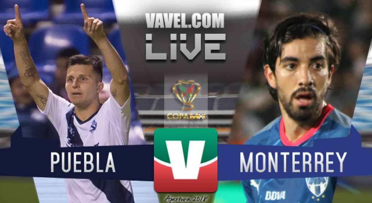 Resultado y goles del Puebla 1-1 Monterrey en Copa MX 2018.