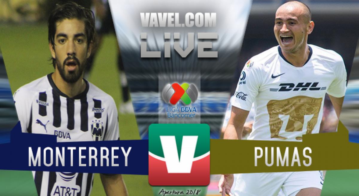 Resumen Monterrey 1-0 Pumas en Liga MX 2018