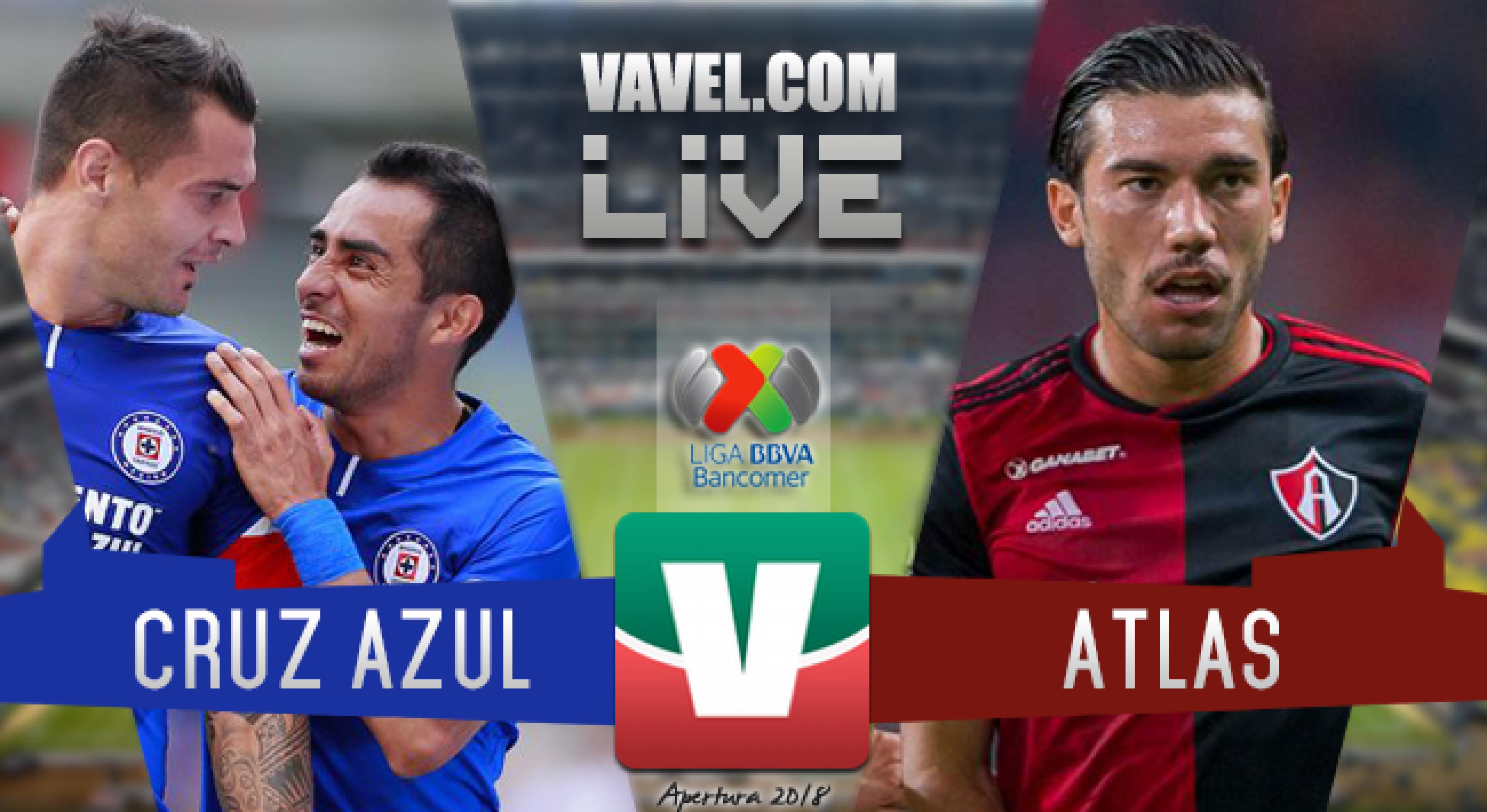 Resultado y goles del Cruz Azul vs Atlas (2-0)