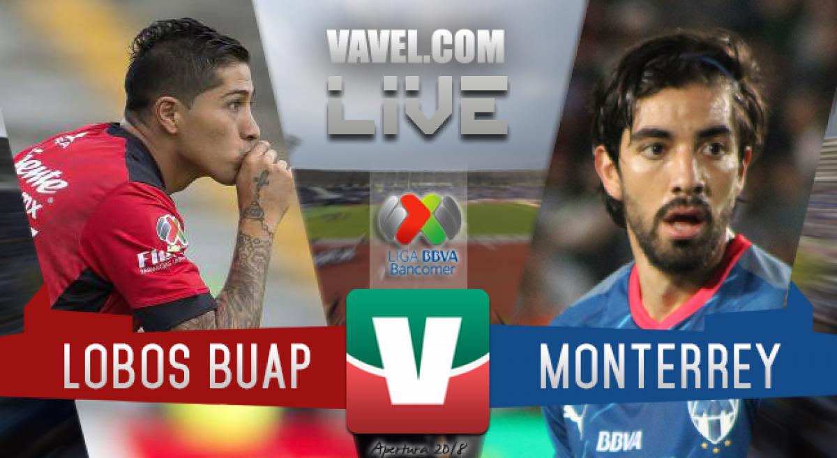 Resumen Lobos BUAP 1-2 Monterrey en Liga MX 2018