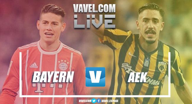 Resumen Bayern Múnich vs AEK Atenas en Champions League 2018 (2-0)
