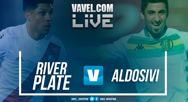 River Plate vs Aldosivi en vivo y en directo online en Superliga Argentina 2018 (1-0)