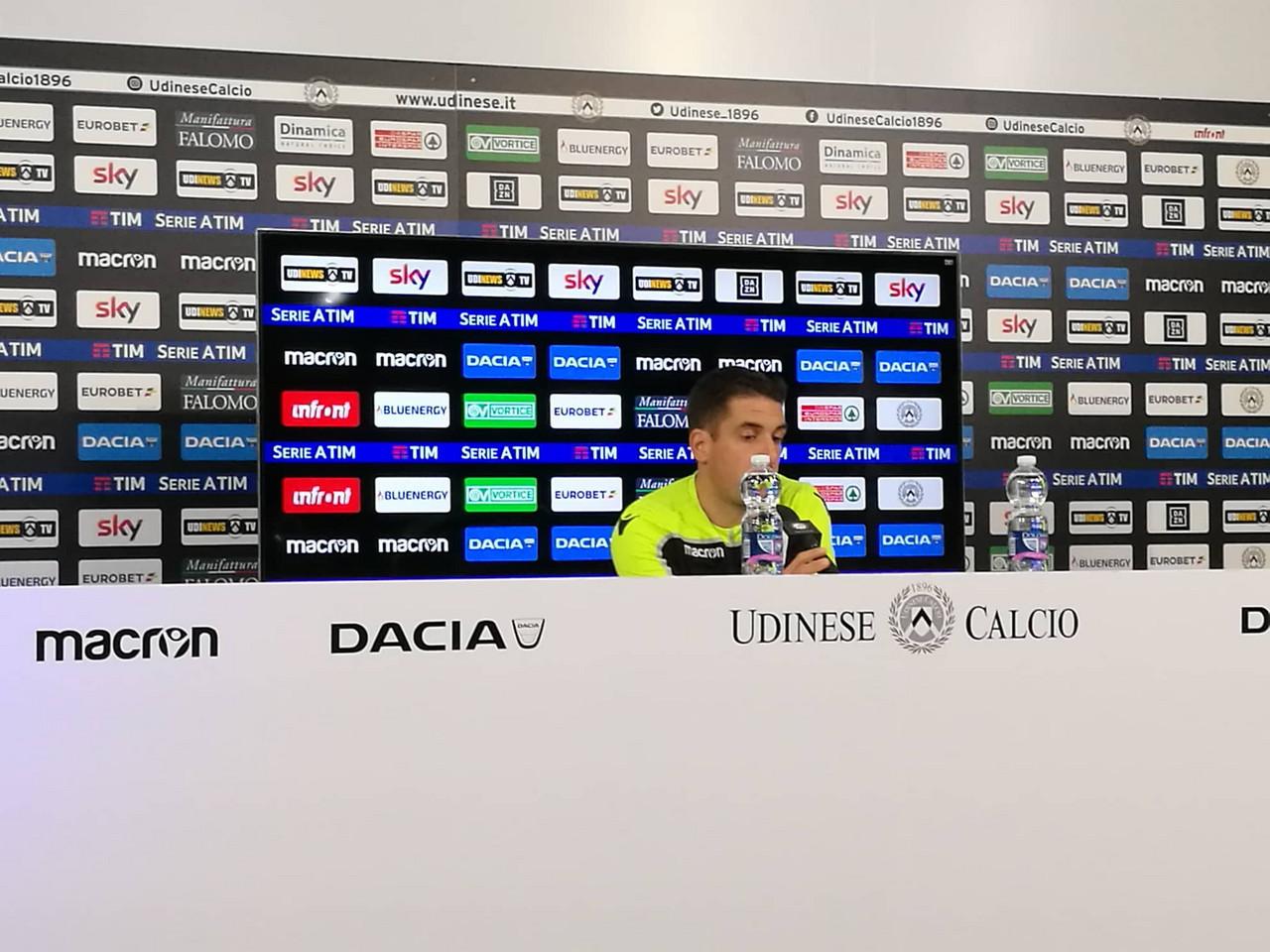 """Udinese - Velazquez: """"Esclusione di Scuffet scelta mia, dobbiamo fare altri punti"""""""