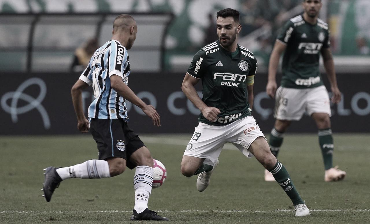 Há quatro rodadas sem vencer, Grêmio recebe Palmeiras pelo Campeonato Brasileiro
