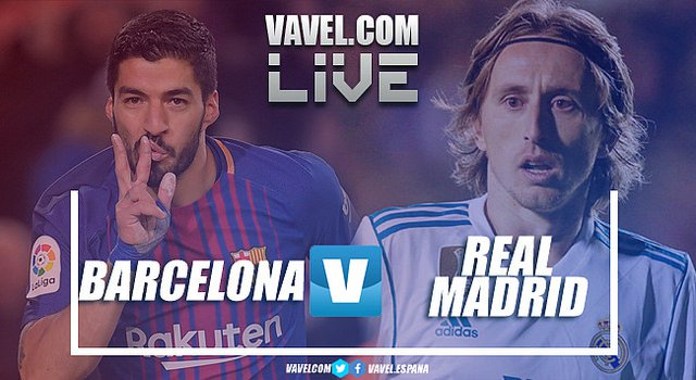 Jogo Barcelona x Real Madrid AO VIVO online em LaLiga 2018
