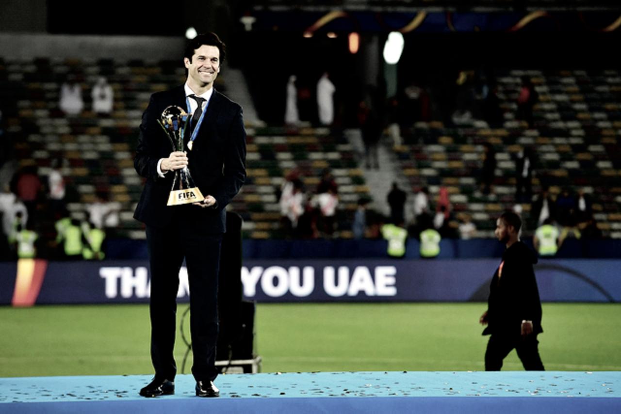 Santiago Solari, ganador del Mundialito como entrenador y jugador