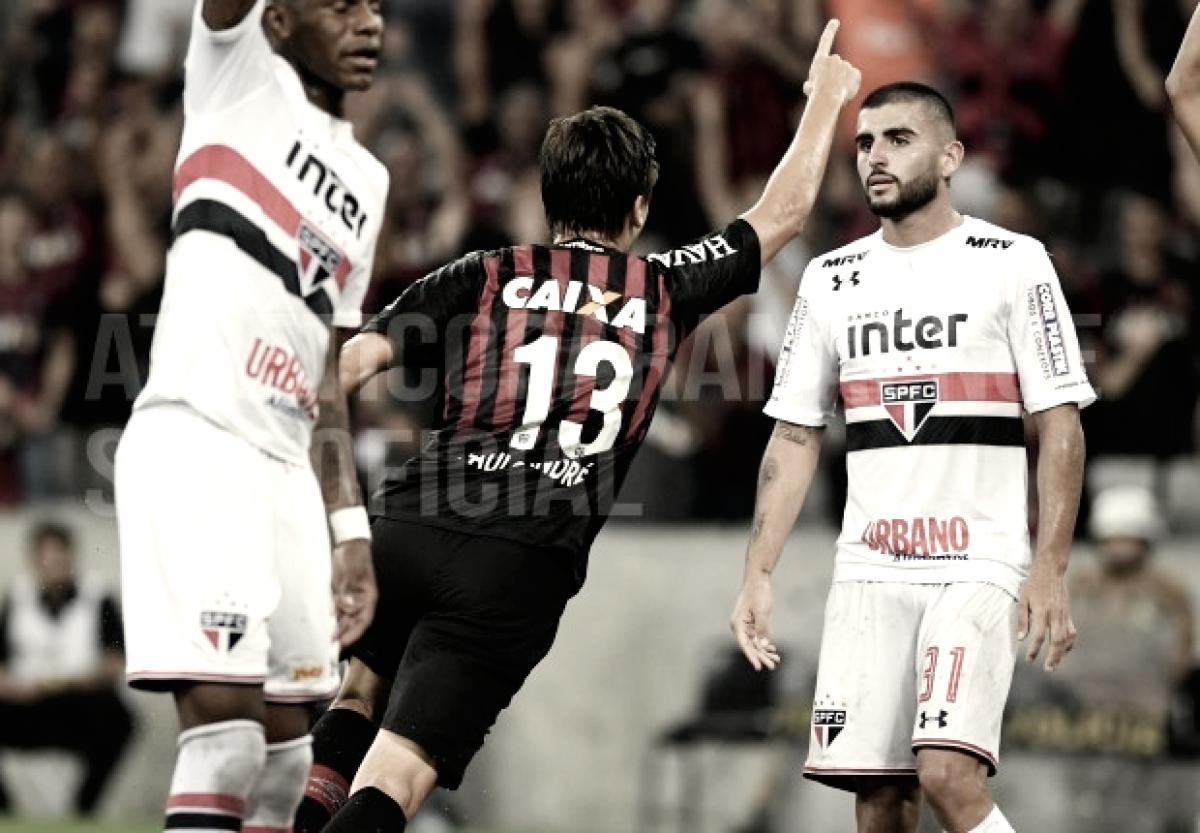 Na partida de ida da Copa do Brasil, Atlético-PR vence São Paulo e larga na frente