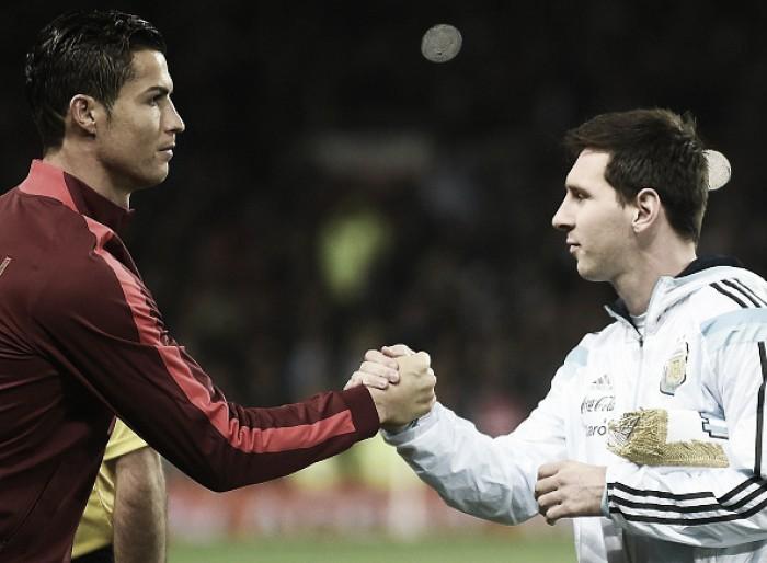 Cristiano Ronaldo lamenta possível aposentadoria de Messi da Seleção Argentina