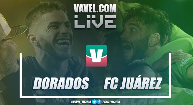 Resultado y goles del Dorados 2-0 FC Juárez en ida semifinal Ascenso MX 2018