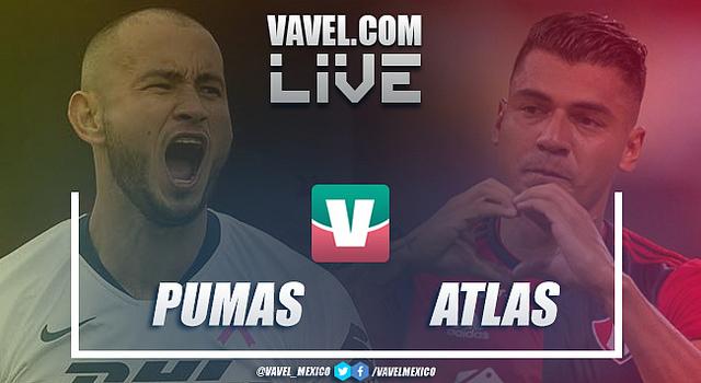 Resultado y goles del Pumas (2-2) Atlas en Liga MX 2019
