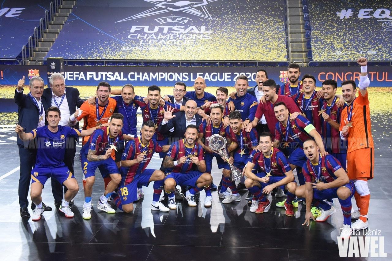 Un Barça titánico se alza campeón de la Uefa Futsal Champions League