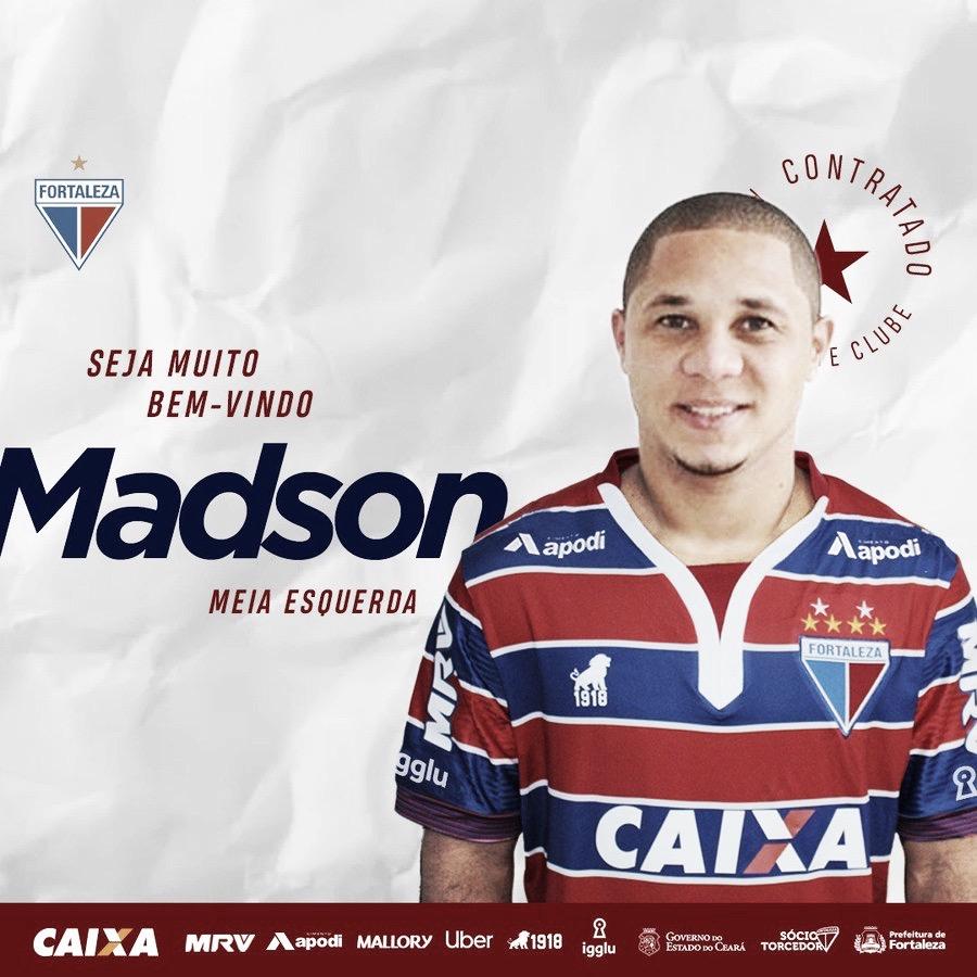 Fortaleza contrata meia Madson, ex-Vasco e Santos