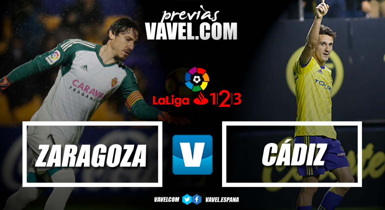 Previa Real Zaragoza - Cádiz CF: a terminar noviembre por lo alto