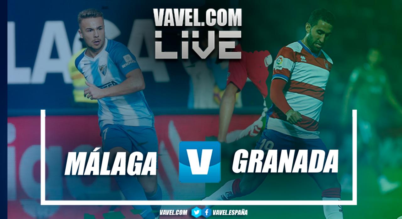 Resumen Málaga CF-Granada en LaLiga 1|2|3 2018 (0-1)