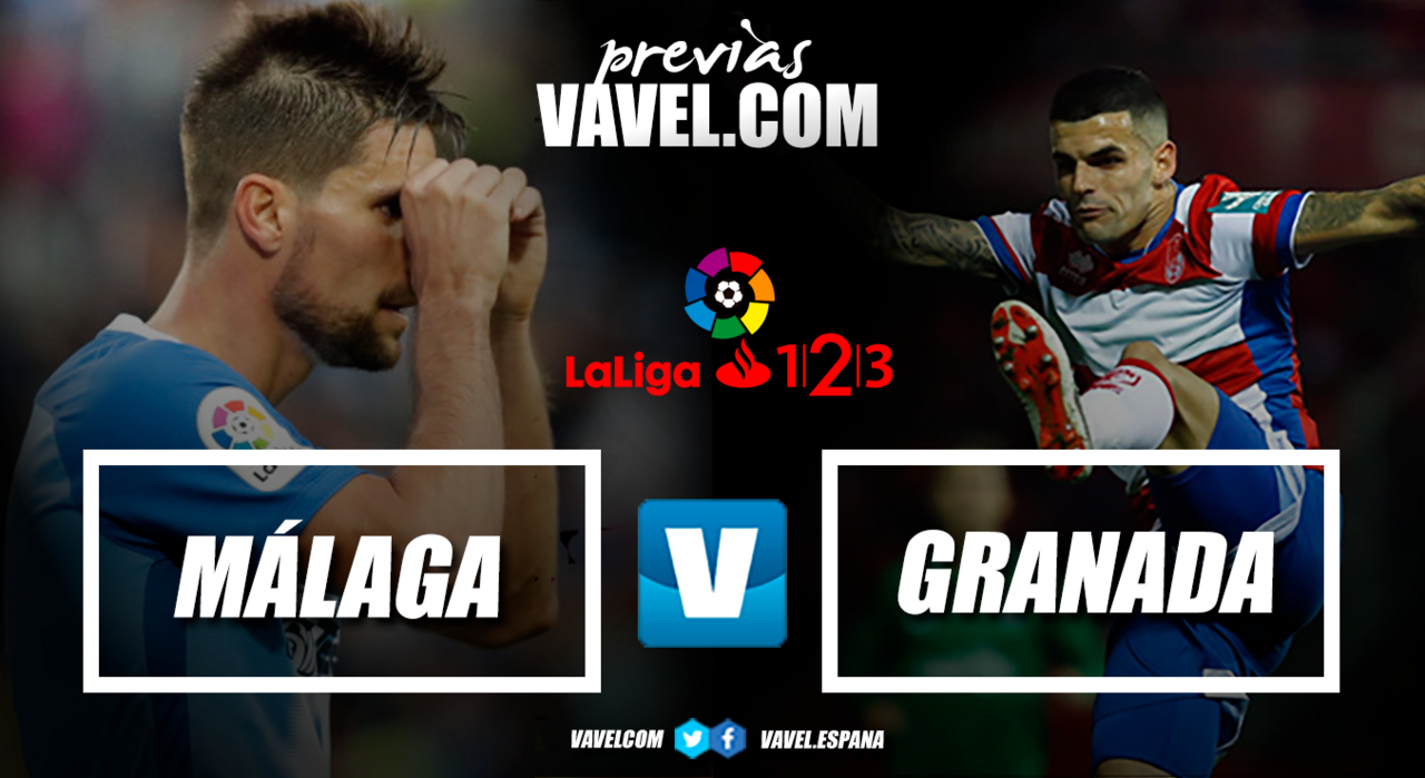 Previa Málaga CF – Granada CF: derbi andaluz por todo lo alto