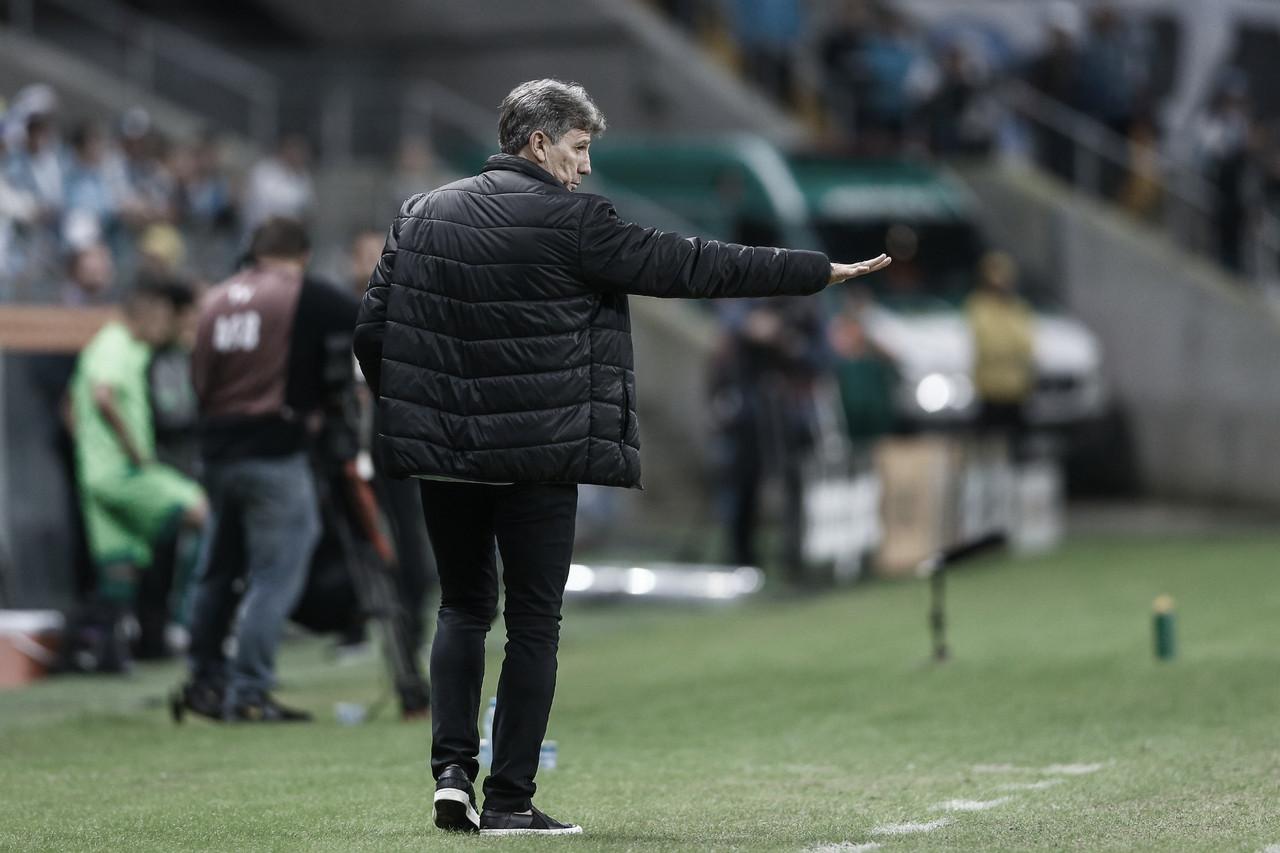 """Já nas quartas, Renato fala dos objetivos do Grêmio: """"Das três metas, duas já conseguimos"""""""