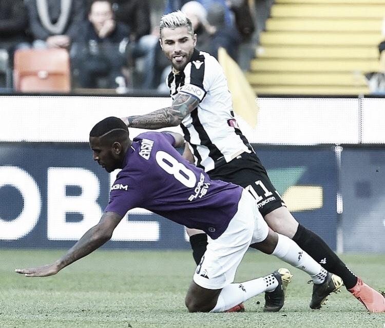 Fiorentina fica no empate com Udinese e perde chance de subir na tabela da Serie A