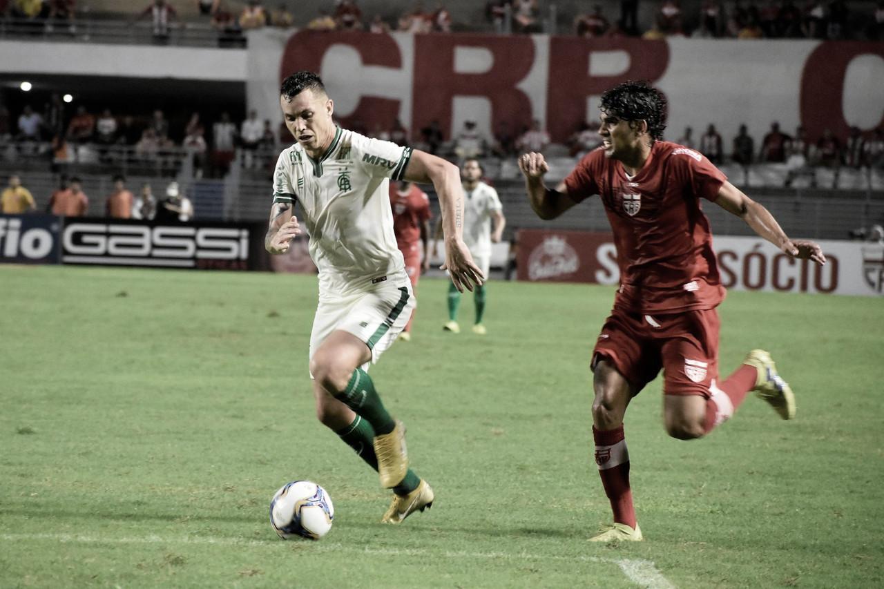 Em jogo de 'seis pontos', América-MG recebe CRB no Horto