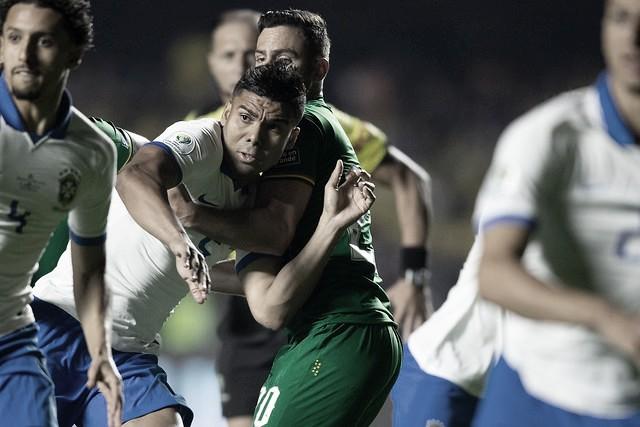 Casemiro cita primeiro tempo ruim e ansiedade na vitória do Brasil contra Bolívia