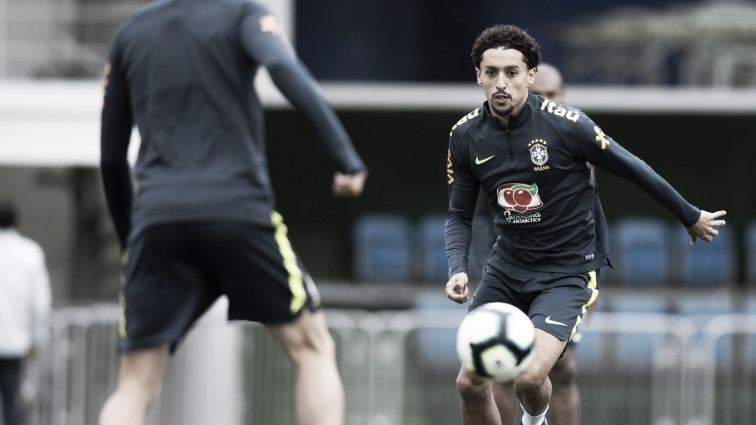 """Marquinhos prefere esquecer goleada e projeta final contra o Peru: """"Jogo muito difícil"""""""