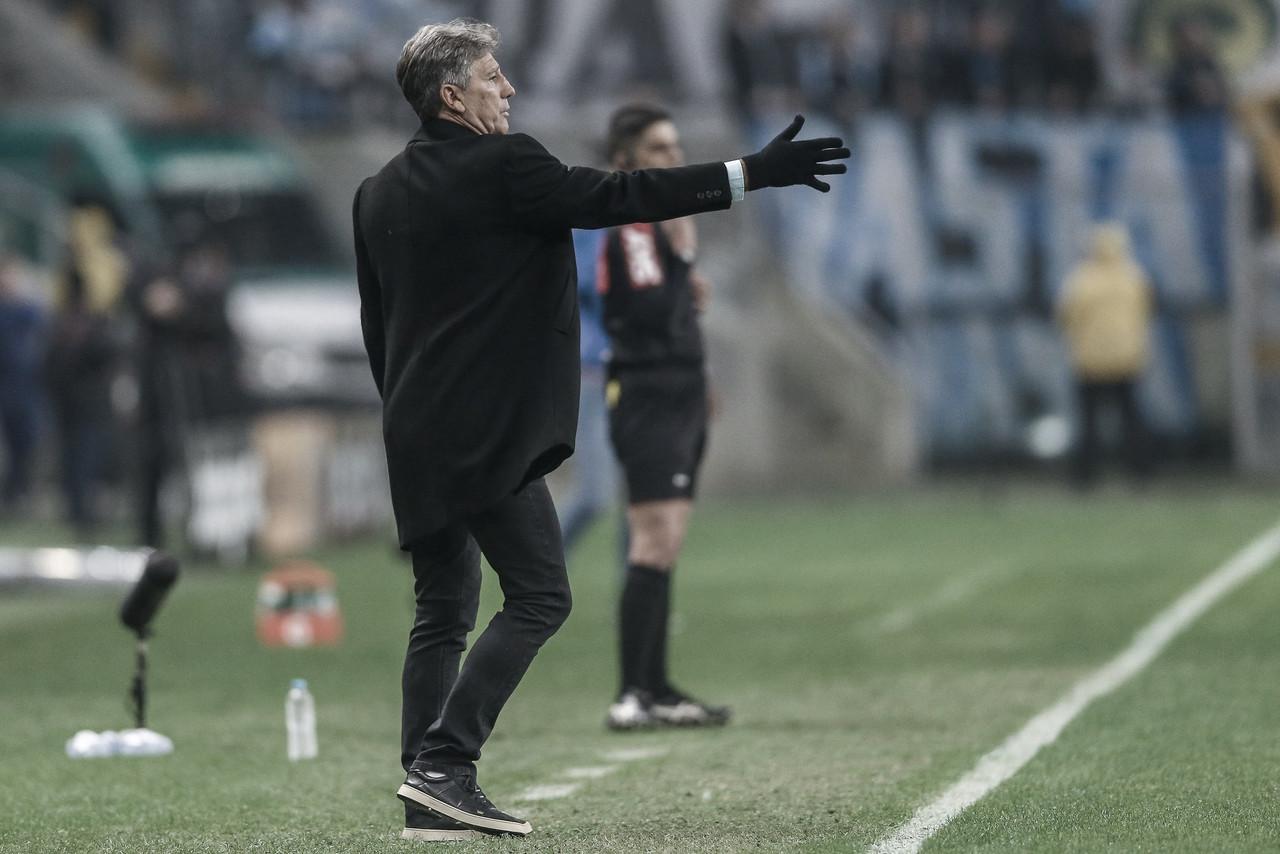 """Renato Portaluppi vê boa atuação no Grêmio e critica vaias da torcida: """"Não vou agradar a todos"""""""
