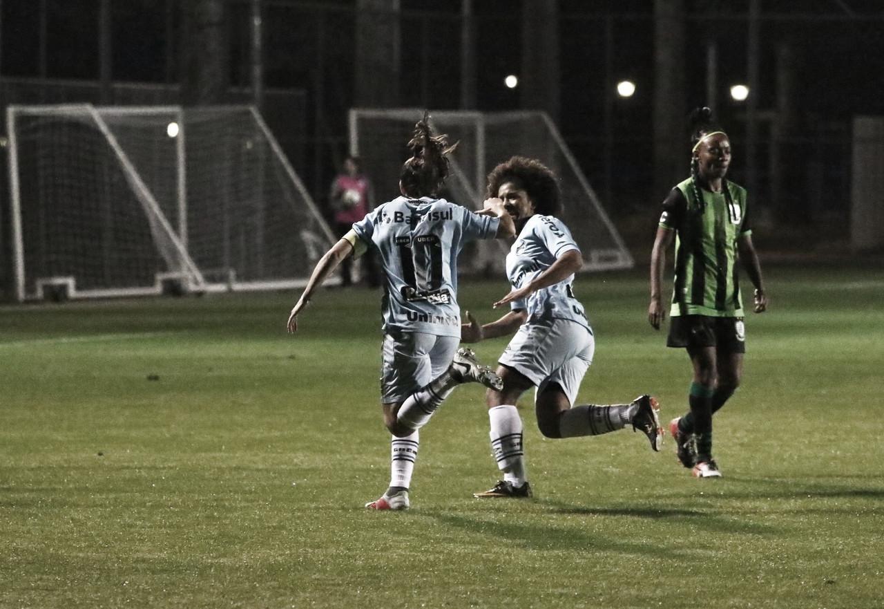 Grêmio bate América-MG fora de casa e leva vantagem nas quartas do Brasileirão A-2