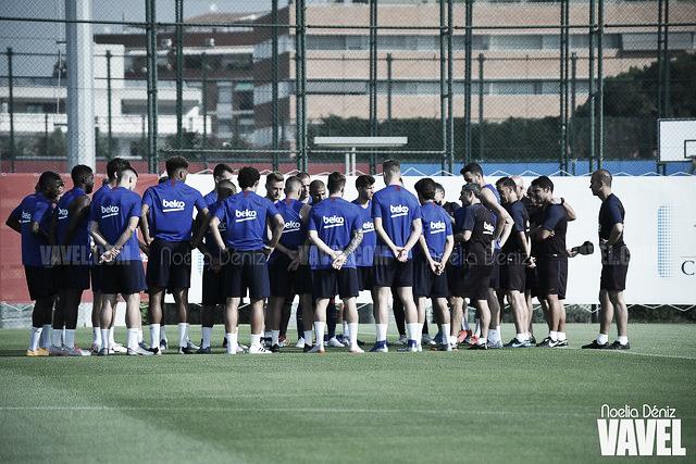 Doble sesión de entrenamientos en Can Barça