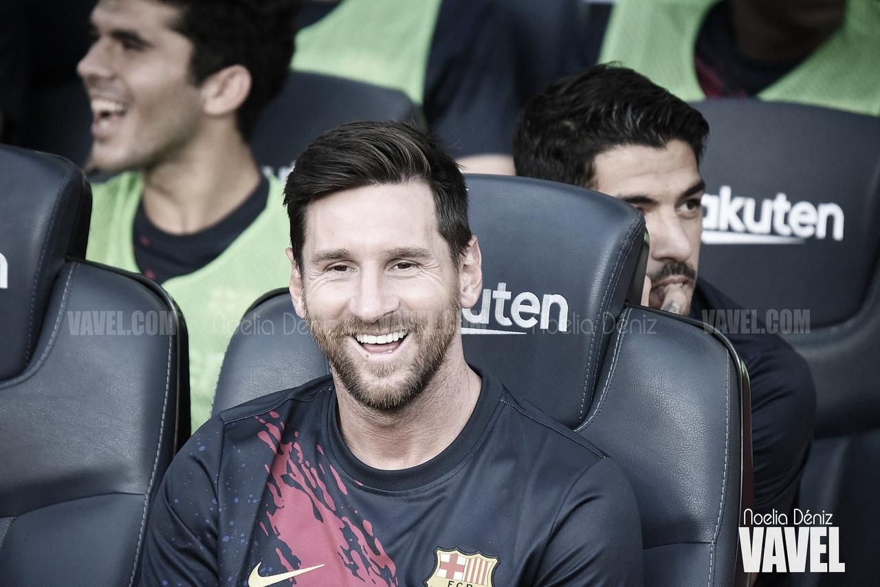 """Leo Messi: """"Ansu Fati tiene unas condiciones impresionantes"""""""