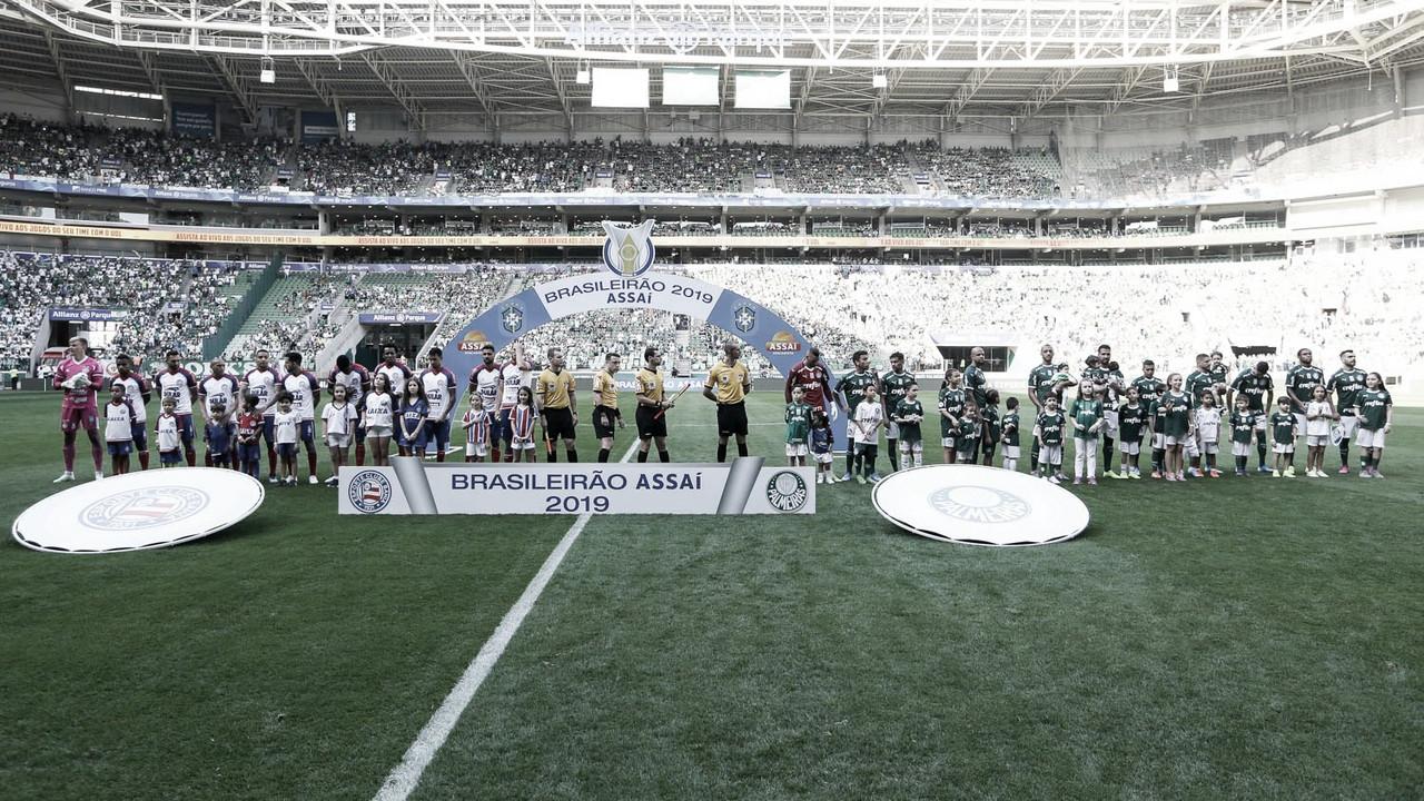 Expulsões e auxílio do VAR: em jogo tenso, Palmeiras e Bahia empatam no Allianz