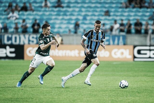Dudu brilha, David Braz faz golaço e Grêmio empata com Palmeiras pelo Brasileirão