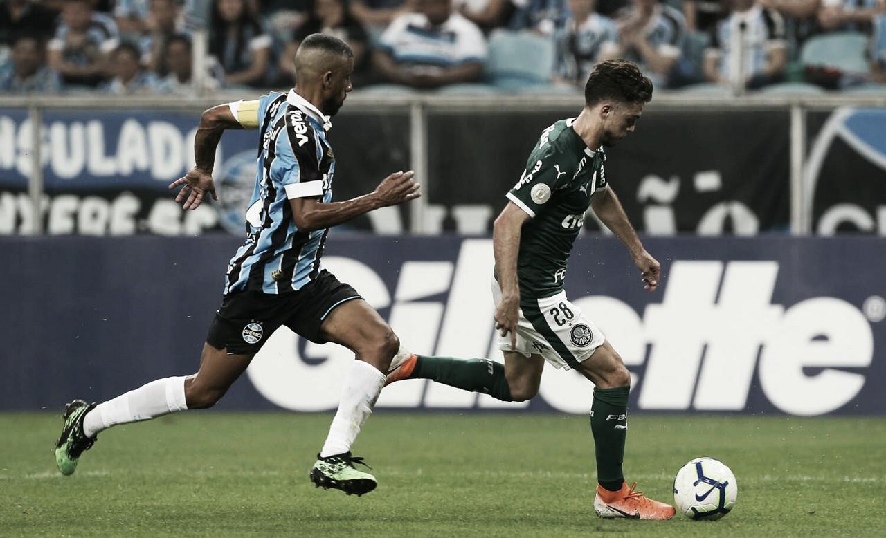 Grêmio recebe Palmeiras agora pelas quartas de Copa Libertadores