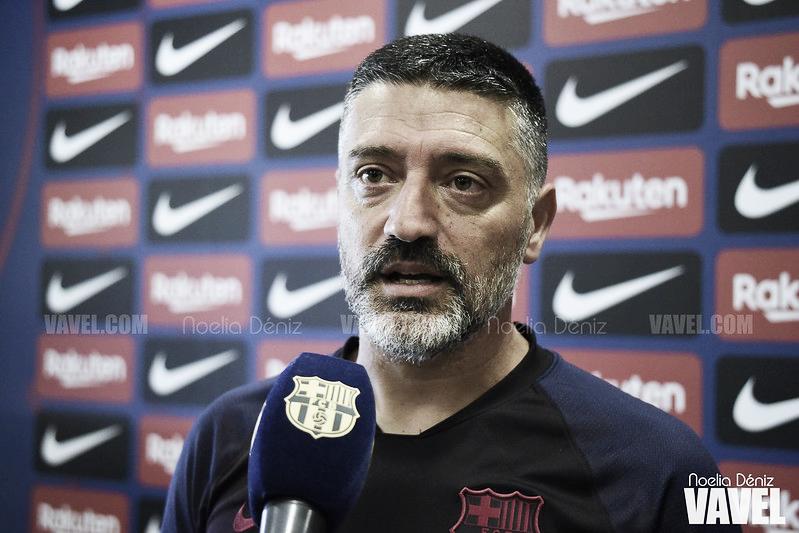"""García Pimienta: """"El Llagostera es uno de los equipos más fuertes de la categoría"""""""