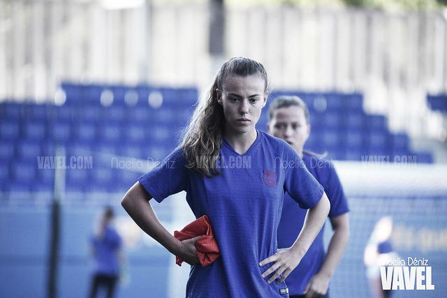 """Candela Andújar: """"Siempre es positivo jugar en campos grandes"""""""