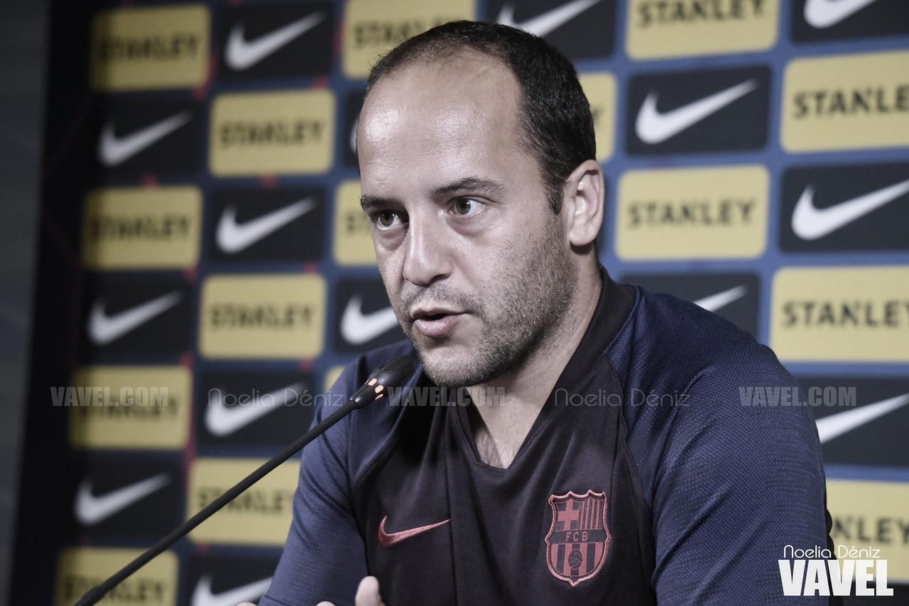 """Lluís Cortés: """"Llevamos dos años y medio preparando este partido"""""""