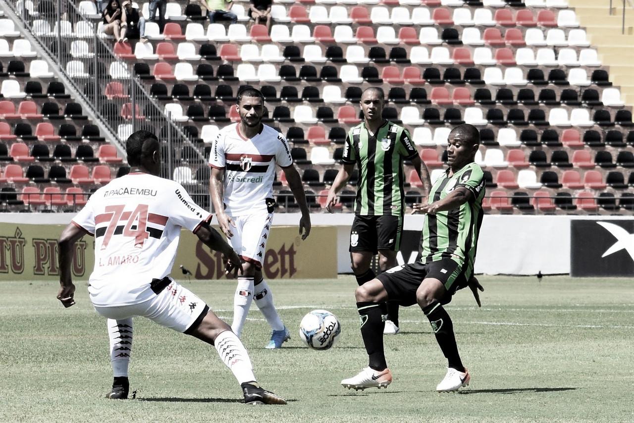 Calor atrapalha, e Botafogo-SP empata sem gols com América-MG no Santa Cruz