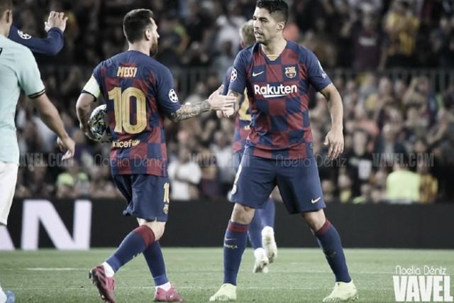 Luis Suárez y Messi empatan por la paz