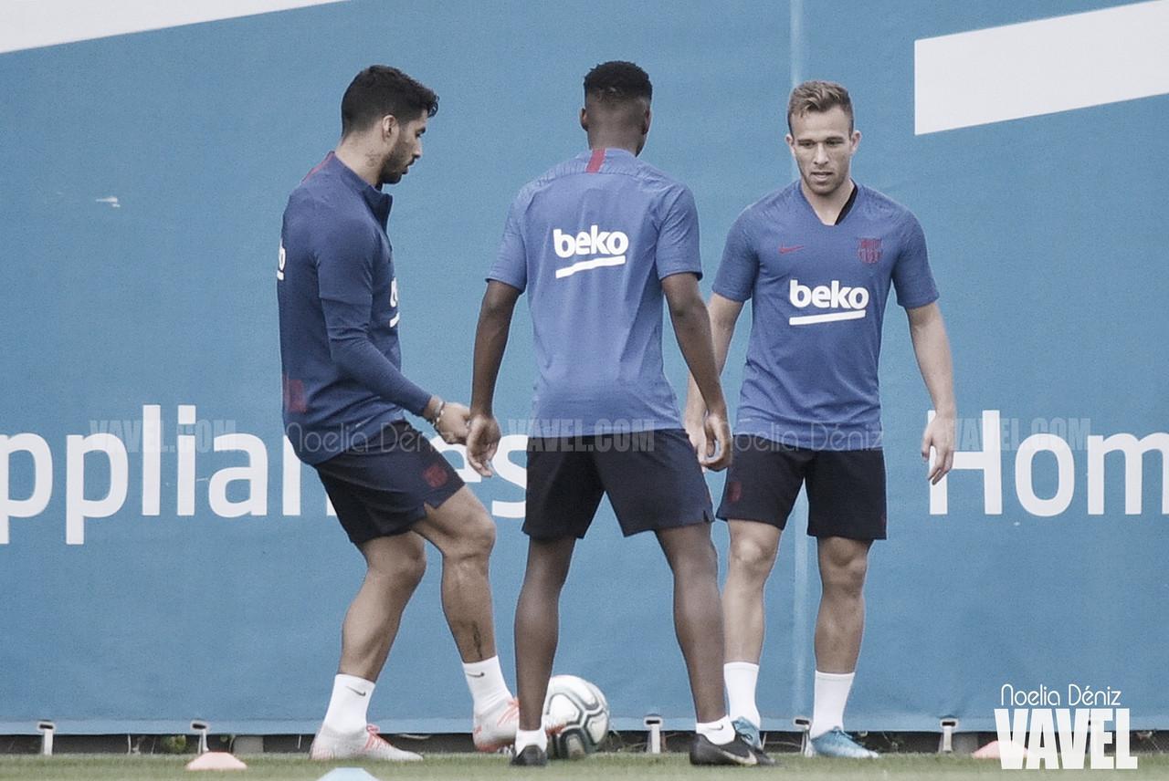 El FC Barcelona sigue ejercitándose en grupo
