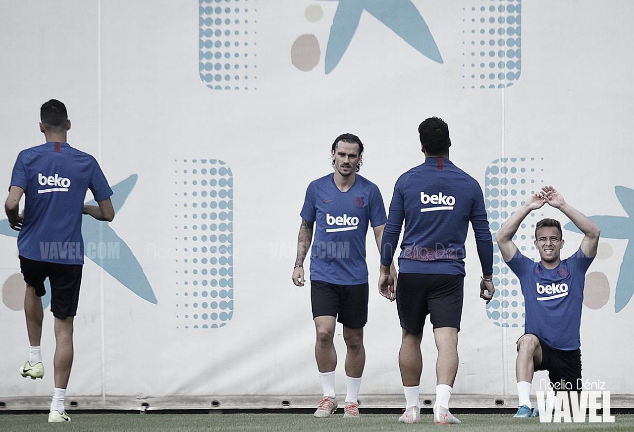 Entreno del FC Barcelona antes de recibir al Atlético de Madrid