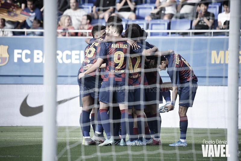 El Barça B supera al Levante y logra la primera victoria en el Johan Cruyff