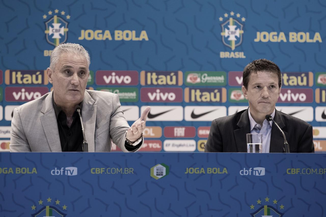 Tite e Juninho explicam calendário e ranking para decidir jogos da Seleção