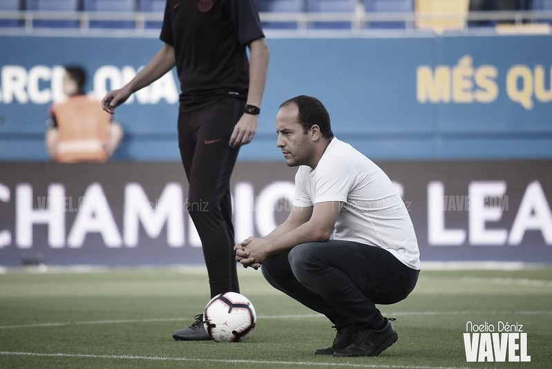 """Lluís Cortés: """"Debemos intentar llevar las riendas del partido ante el Sevilla"""""""