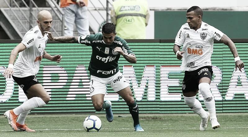 Com gol de Dudu no fim, Palmeiras empata com Atlético-MG e se distancia do líder