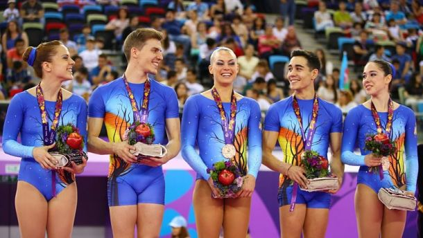 España consigue dos medallas más en Bakú a ritmo de aerobic